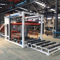 Quality Automatic fast speed woven bag palletizer machine for stacking 20-50kg bags in pallet for sale