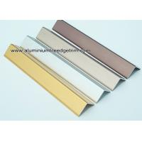 Quality Decorative Drywall Aluminum Corner Guards With Brushed Effect 1.5mm Thickness for sale