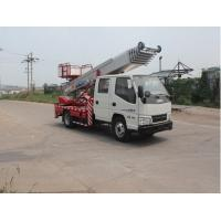 Quality Professional 3360 mm Wheelbase Aerial Work Truck 4170 Kg Curb Capacity truck crane for sale