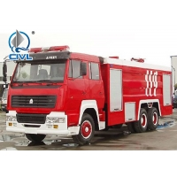 Quality 4x2 6m3 336HP EUROII Fire Fighting Trucks Foam Tank Water Cannons for sale