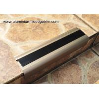 Quality Anodised Matt Champagne Aluminum Metal Stair Nose Moulding 35mm x 55mm TL30 for sale