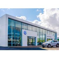 Quality Galvanized Steel Multi Car Showroom , 36.6m Span Large Car Showrooms for sale