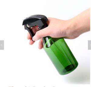 Quality Amber 500ml Plastic Trigger Spray Bottle for Liquid Detergent, Cylinder Barber Shop Hair Spray Bottle for sale