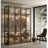 Buy cheap Brown Glass Display Wardrobe Customized OEM Customized Moisture Proof from wholesalers