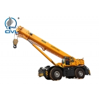 Quality Yellow 100 Ton All Terrain Crane XCMG QY100K-I  Max. Travel Speed 80 Km / H Telescopic Boom Crane for sale