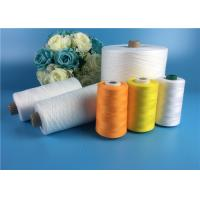 Buy cheap Eco - Friendly 100 Spun Polyester Yarn S Twist And Z Twist Yarn Raw White Bright from wholesalers