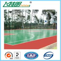 Quality ISO Acrylic Sports Surfaces Recycled Flooring Materials Environmental Friendly for sale