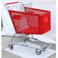 Buy cheap Plastic Trolley, American Type Shopping Cart, Supermarket Trolley ,Shopping from wholesalers