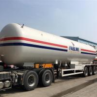 Quality Powerful 3 Axles Lpg Tank Trailer , 30CBM To 65CBM Propane Semi -Trailer for sale