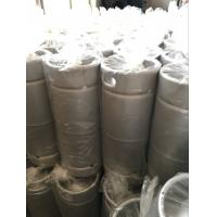 Quality 20L US Sixth Stainless Steel Beer Keg With Logo Print Twice Welding Neck for sale