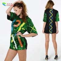 Buy Oversize Womens Glitter Clothes / Women Sequin Party Dresses Hip Pop Style at wholesale prices