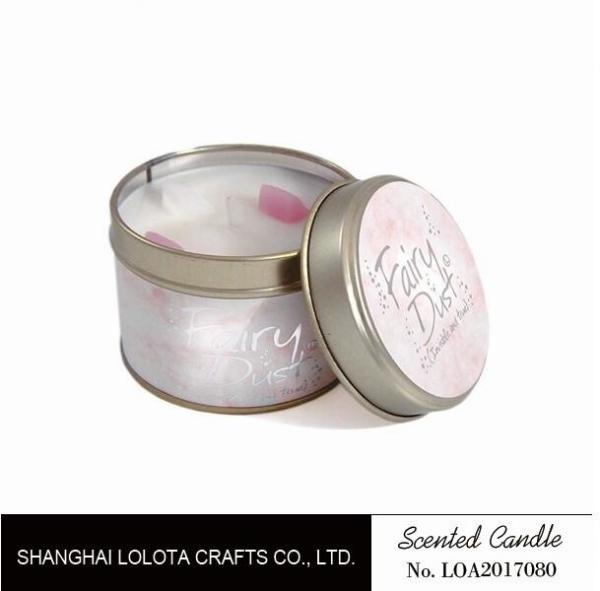 Buy Small Soy Tealight Candles , Tin Can Candles Raspberry / Amber Fragrance at wholesale prices