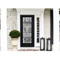 Buy cheap upgrading  Elegant Inlaid Door Wrought Iron Glass For Building Hand Forged textures from wholesalers