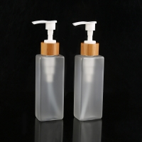 Quality Square Shape Frosted PET Plastic Bottles For Sanitizer for sale
