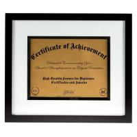 """Buy cheap Modern Style Black And White Document Frame To Hold 8 1/2"""" x 11"""" Certification from wholesalers"""