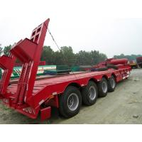 Quality Cimc 3 Axles Flatbed Semi Trailer , 20ft 30 Ton 40 Feet Flat Bed Shipping Container for sale