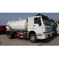 Quality Jetting And Vacuum Sewage Suction Tanker Truck , Sewage Sucking Truck Combined for sale