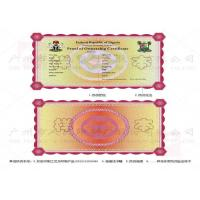 Quality Diploma Certificate Security Sticker Printing Stable With Temperature Resistance for sale