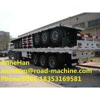 Quality 3 Axle 40 Feet Flatbed Skeletal Semi Trailer Trucks 12 Pcs Container Twist,container semi trailer for sale