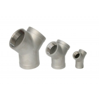 """Quality 1/2"""" 3000lb Forged Steel Fittings Stainless Seamless A105 Y Type Tee for sale"""