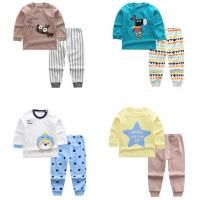 Quality Animal Patterns Long Sleeve Kids Clothing Sets , Toddler Boy Clothing Sets for sale