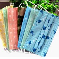 Quality EN14683 Medical Disposable Face Mask Mouth Cover Mask Non Woven Multi Colored for sale
