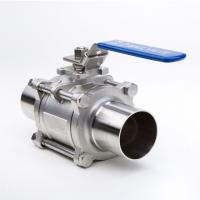 China 2 Way Welding Stainless Steel Threaded Ball Valve For Gas And Water on sale