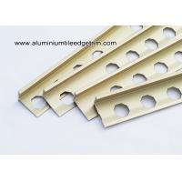 Quality High End L Shaped Angle Ceramic Tile Corner Trim Matt Gold 2.44m /2.5m /2.7m for sale