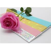 Quality Wrapping Presents Waxed Tissue Paper With PET Holographic Film 50 X 70CM for sale