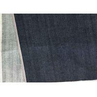 Quality Indigo Herringbone Denim Fabric Stretchable 99 Cotton 1 Spandex 12.3 Ounce for sale