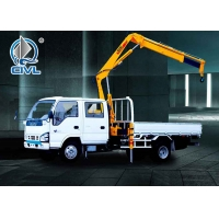 Quality Truck-mounted crane with telescopic boom 3 Ton Knuckle Boom Truck with Sinotruk HOWO Chassis for sale