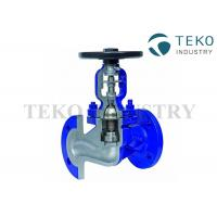Buy cheap DIN Bellow Seal Globe Valve Manual Operated Steam And Thermal Oil Application from wholesalers