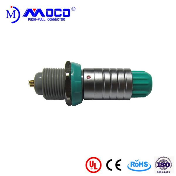 Buy Green Nut Medical Plastic Push Pull Connectors Metal Shell M14 Multipole at wholesale prices