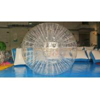 China Grass Rolling TPU Inflatable Zorb Ball , Inflatable Theme Park Zorb Hamster Ball on sale
