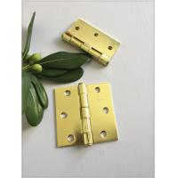 Quality Bright Surface Polish 4 Inch Solid Brass Door Hinges Metal Brass Plated for sale