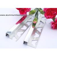 Buy 10mm Bathroom Polished Chrome Square Edge Tile Trim For Exterior Corner at wholesale prices