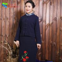 Quality Washable Traditional Chinese Clothing Tang Suit With Blouse And Skirt Set for sale