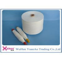 Quality 100% Spun Polyester Weaving Yarn Raw White Color High Strength For Sewing for sale