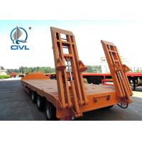 Quality Lowbed semi Trailer With 4 Axles Famous Brand Parts High Strength for sale