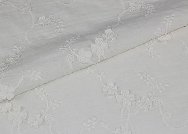 Buy Fashion 3D Flower Lace Fabric , Embroidered Cotton Lace Fabric By The Yard at wholesale prices