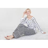 Buy cheap Comfortable Dotted Womens Pyjama Sets Long Sleeve Top And Pants Soft Handfeel from wholesalers
