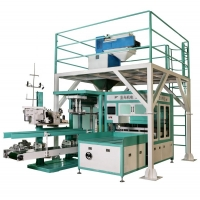 """Quality 10"""" Touch Screen Fertilizer Sand Sheep Feed Packer Machine for sale"""