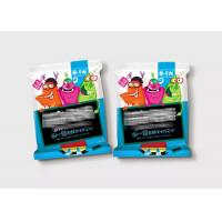 Quality 3 Side Seal Laminated Flexible Plastic Zipper Bags For Snack Food Colorful Printing for sale