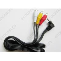 Quality White Yellow Red Audio Wiring Harness Right Angle Stereo to RCA Cable for sale
