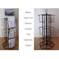Buy cheap 12 Wire Card Display Racks , Pockets Rotating Greeting Card Display Stand from wholesalers