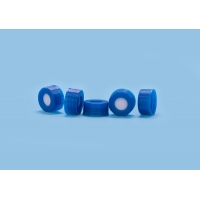 Quality Blue Injection Plastic Pharmaceutical PTFE Hplc Vial Caps for sale
