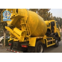 Quality 290hp America Motor 4x2 Concrete Mixing Equipment Howo 8CBM Capacity 300L Yellow Color for sale
