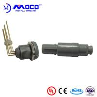Quality 1P Grey Shell 8 Pin Circular Plastic Connector for sale