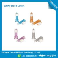 Quality Pressure Activated Disposable Blood Lancets For Diabetes OEM / ODM Available for sale