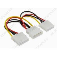 Quality SATA 4pin Y Power Extension Cables For SATA HDD 4 pin Molex Male / 2x 4pin Molex Female for sale